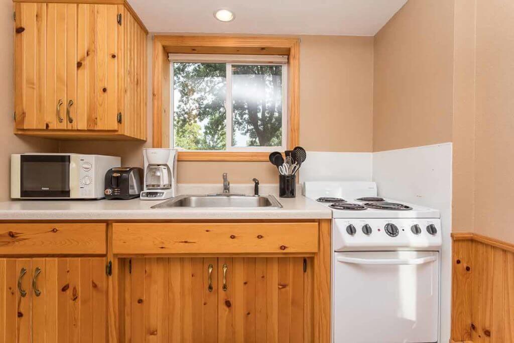 Barrett Lake Resort and Campground cabin rental interiors