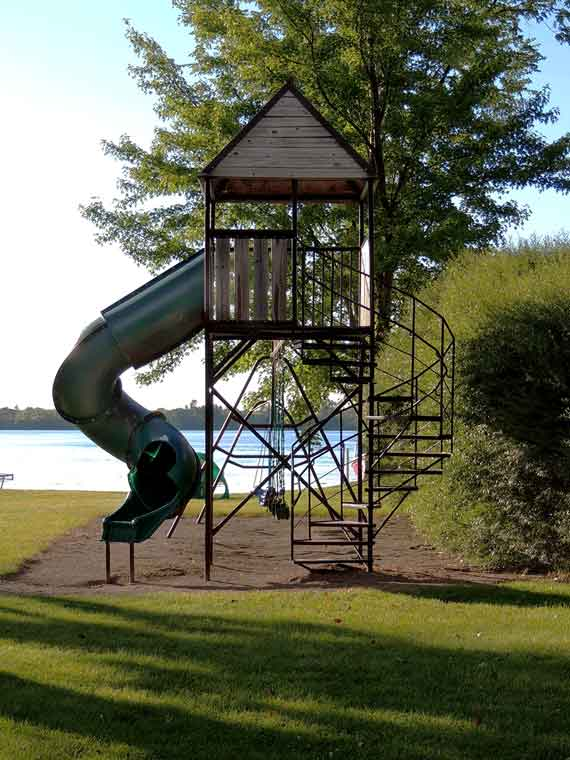 Swingset at Barrett Lake Resort and Campground